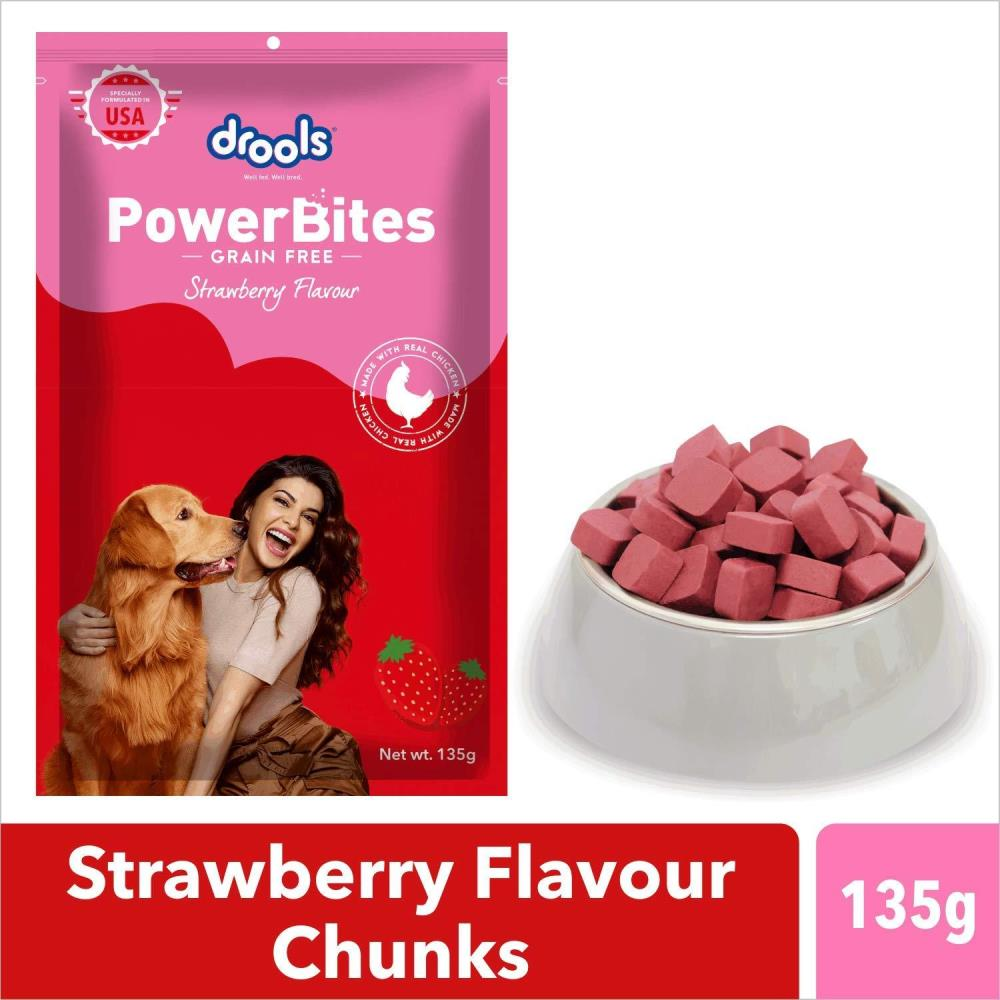 drools-power-bites-strawberry-flavour-real-chicken-dog-treat-135-g