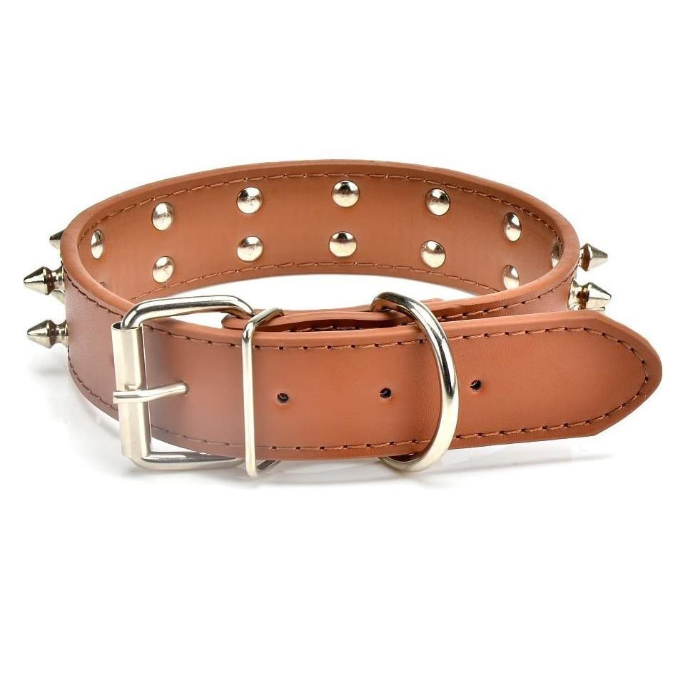 furry-friend-leather-dog-collar-double-spike--large